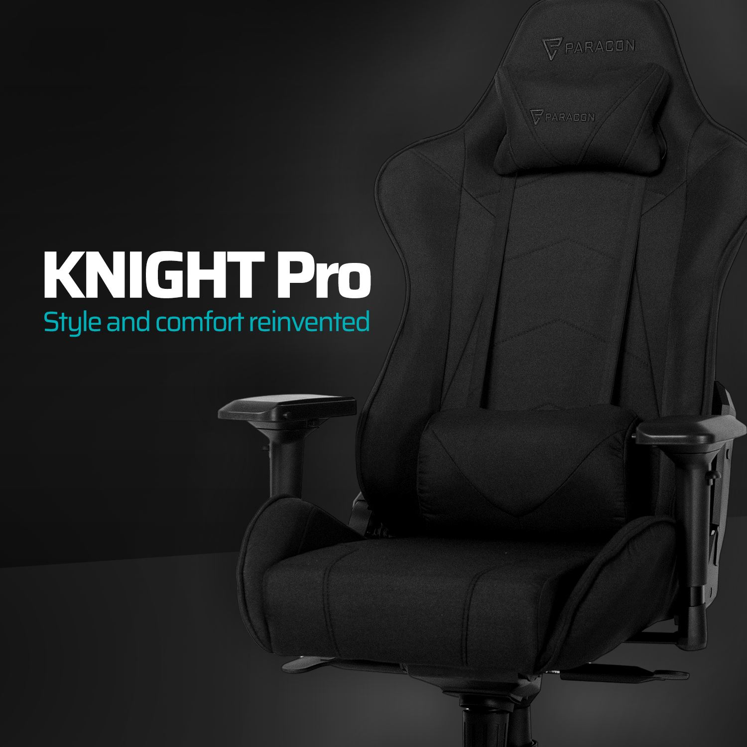 Paracon KNIGHT Pro Gamer Stol Tekstil Sort